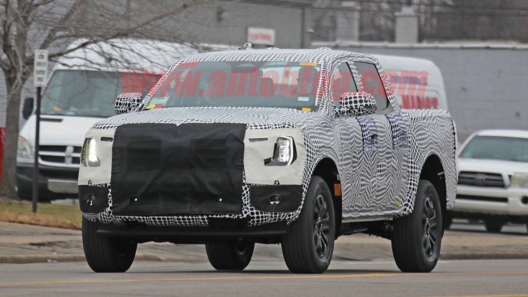 Ford Ranger spied Image Credit: SpiedBilde