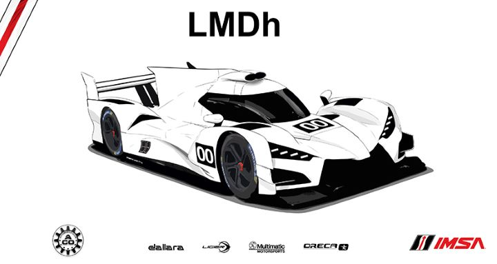 An IMSA/ACO rendering of a potential LMDh race car