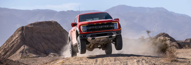 The 2021 Ford F-150 Raptor is known for its smooth flights through the air and comfortable landings. Ford Motor Co.
