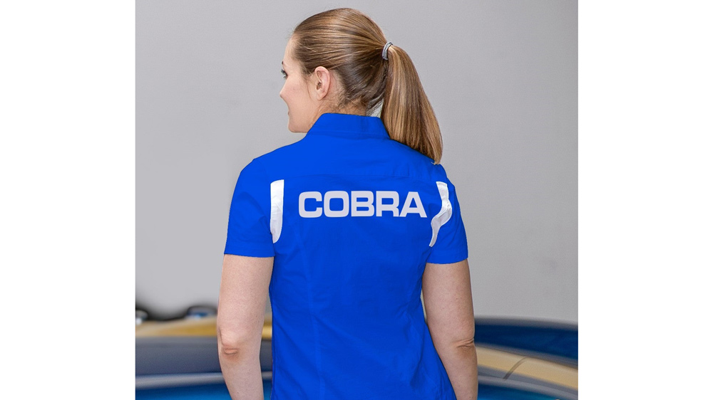 The back of the Shelby American Iconic Blue Team Shirt.  Photo: Courtesy of Original Venice Crew Apparel.