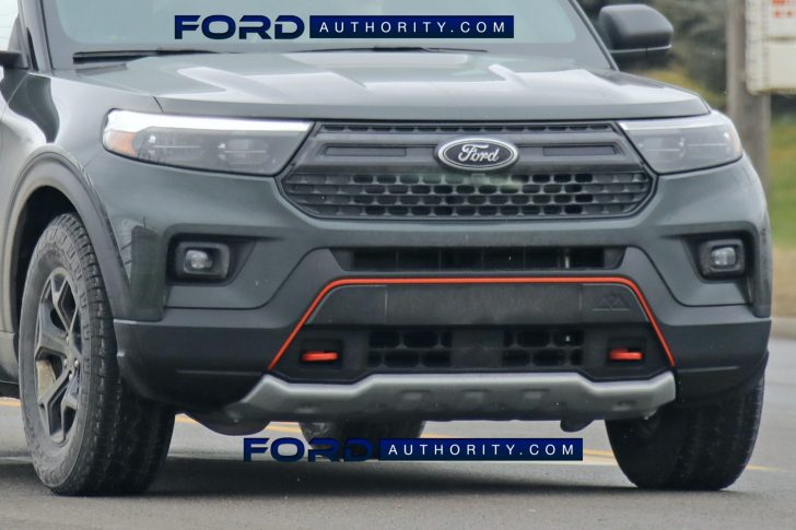 Ford Explorer Timberline prototype with unique front fascia and Timberline logo