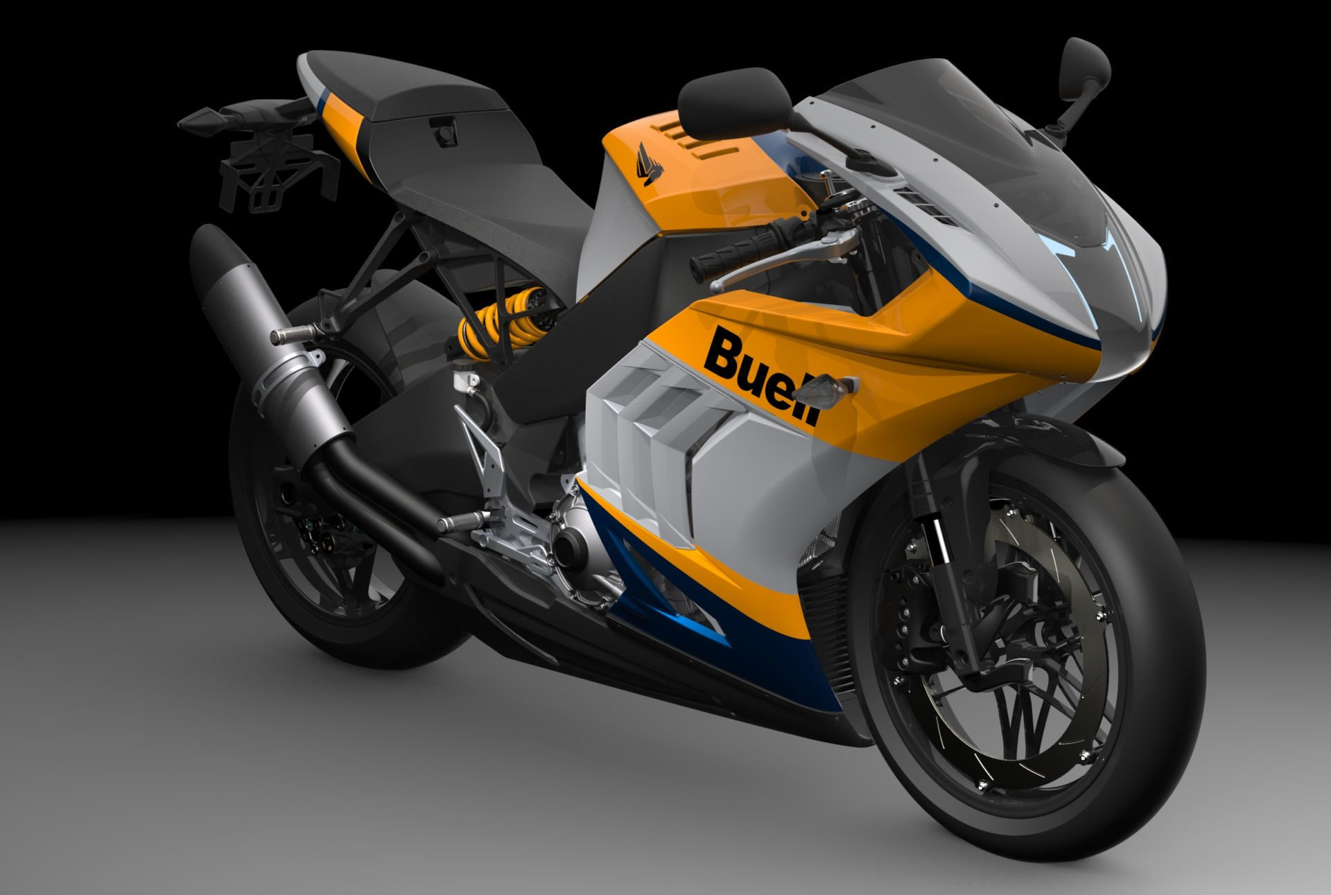 A 2021 Buell Hammerhead 1190RX. Image courtesy Buell Motorcycle.