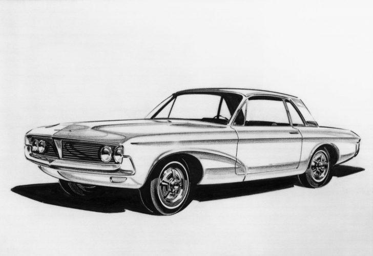 1962 Ford Mustang Design Sketch