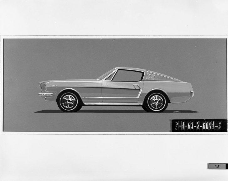 1963 Ford Mustang Fastback Design Sketch