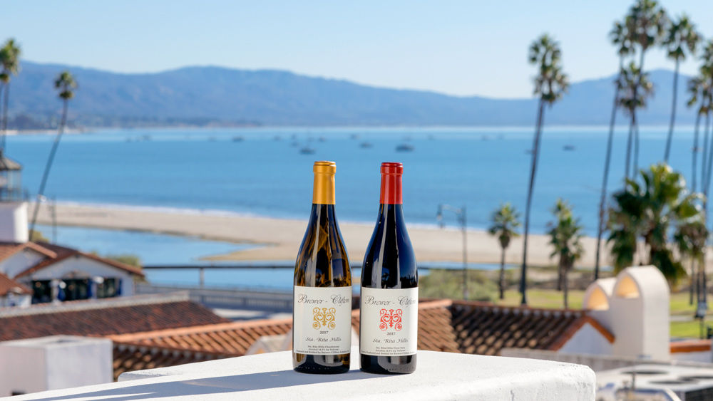 Brewer-Clifton's 2017 Sta. Rita Hills Chardonnay and Pinot Noir.  Photo: Courtesy of Brewer-Clifton.