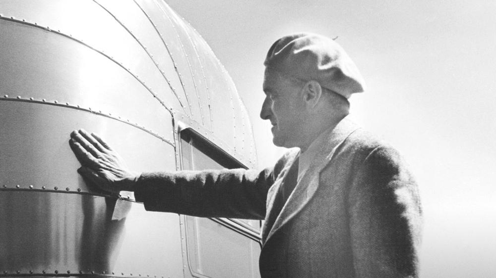 """Wally Byam, founder of Airstream.  Photo: Courtesy of """"Alumination"""""""
