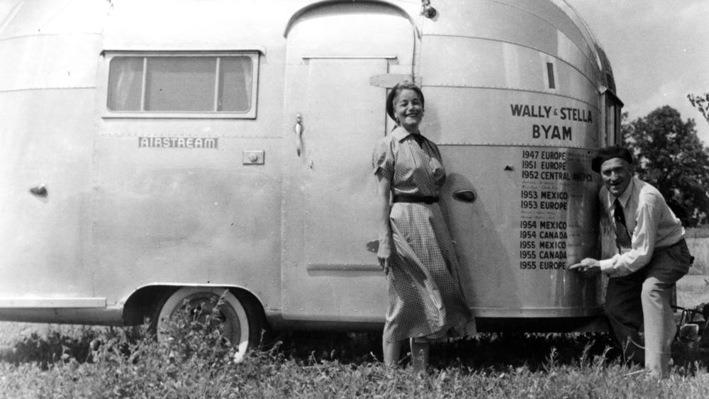 """Wally Byam and his wife Stella.  Photo: Courtesy of """"Alumination"""""""