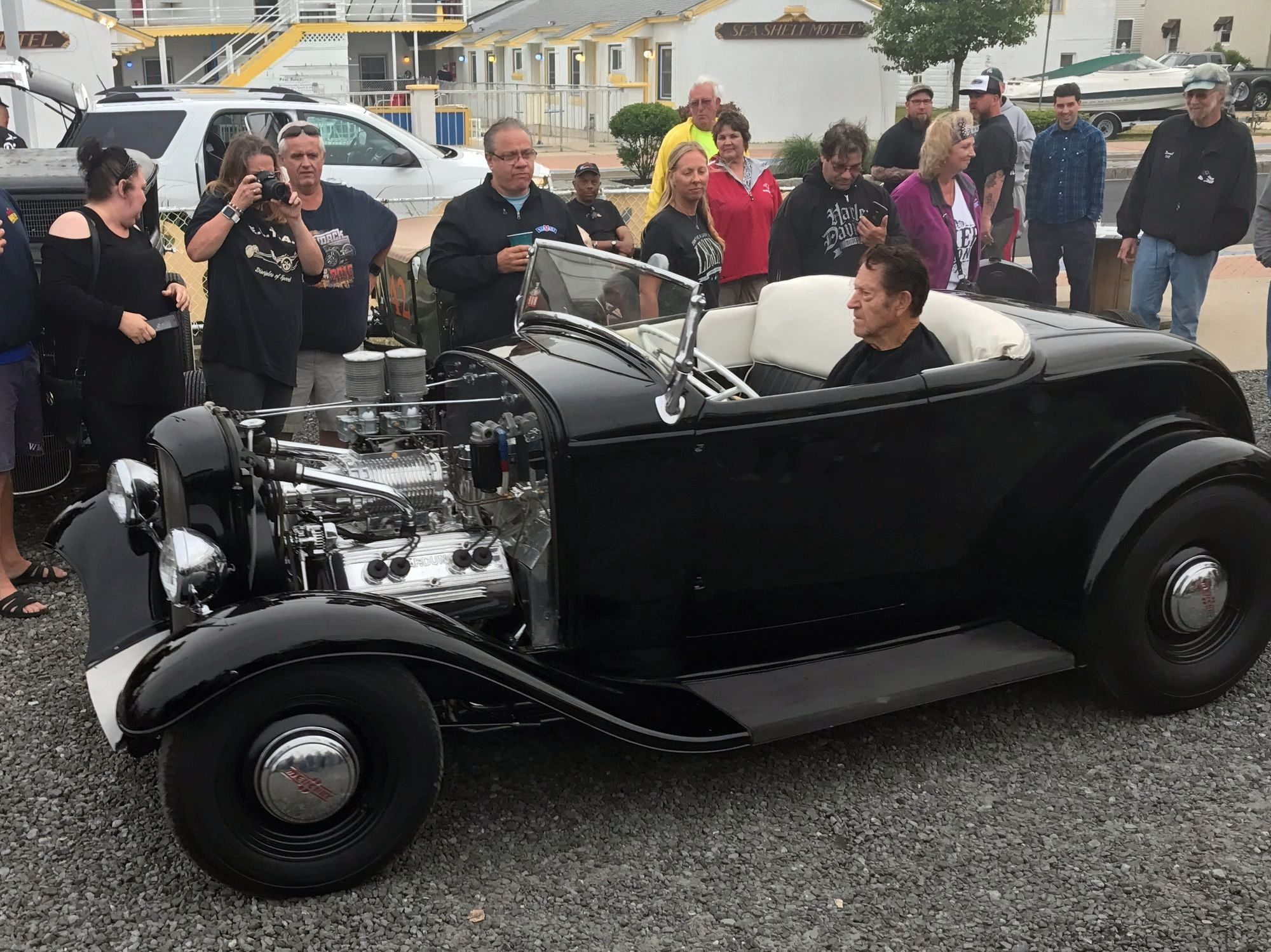 Gene, in a '32 Ford Roadster he helped build, now owned by Rob Ida. Photos by Kevin Carlson unless otherwise noted.
