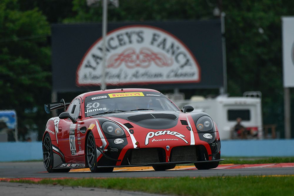 Panoz LLC's latest racing car, the Avezzano GT4, at Watkins Glen in 2017. Photo courtesy Panoz LLC.