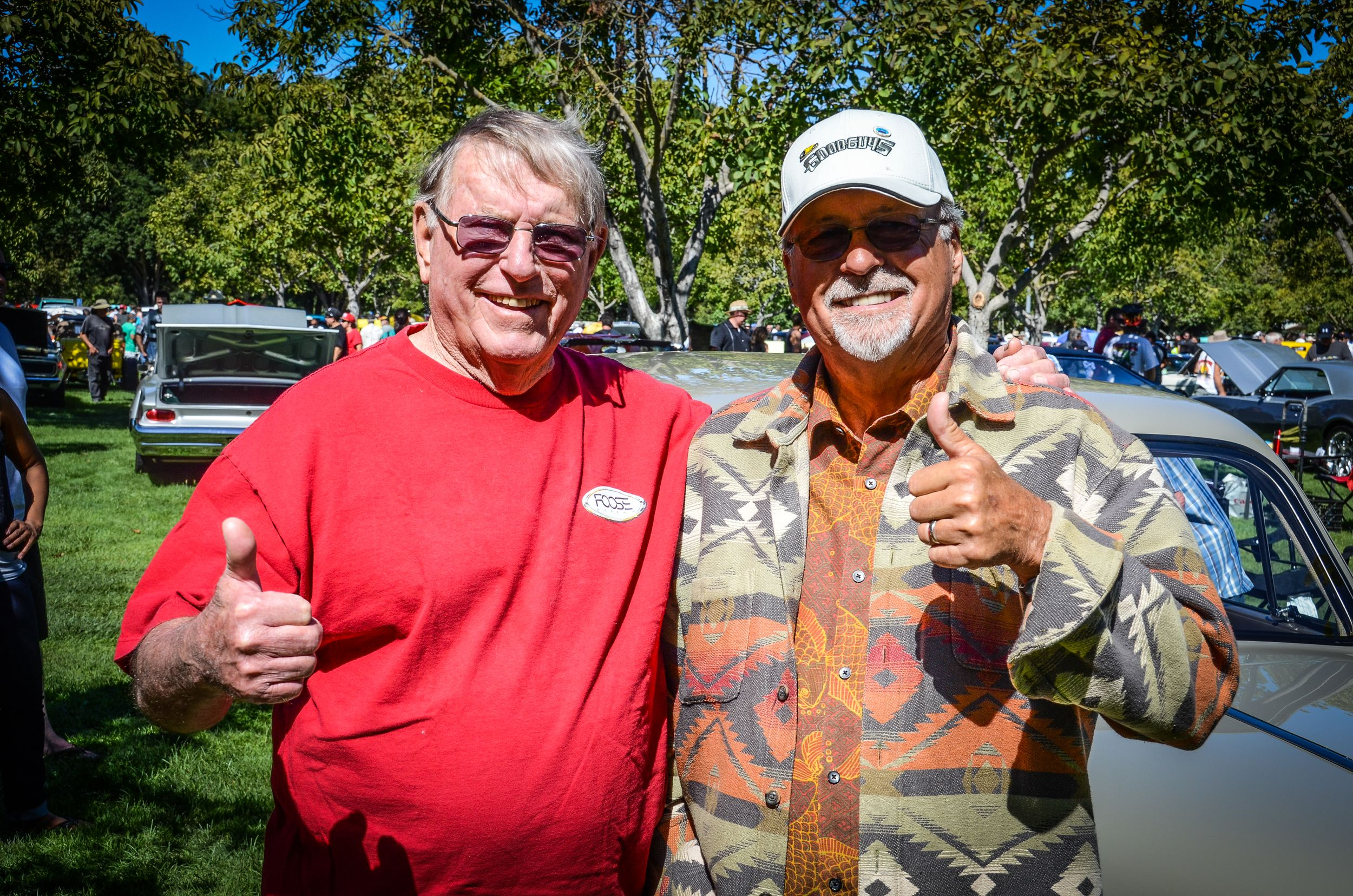 Sam Foose (L) with Goodguys founder Gary Meadors in 2014. Photo courtesy Fuel Curve.