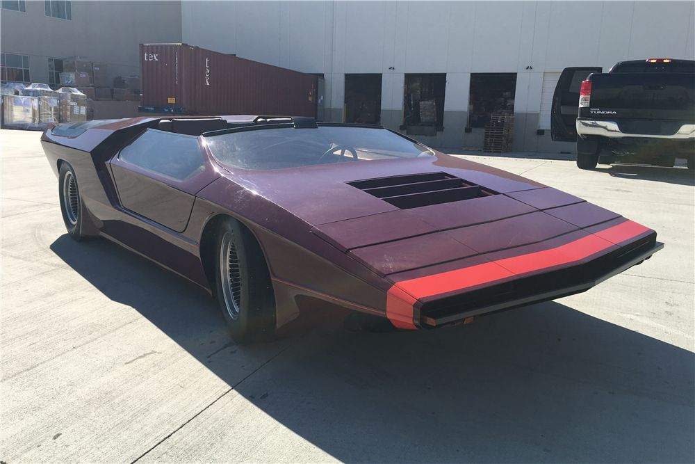 Sam Foose's customized Pantera, inspired by the Alfa Romeo Carabo concept. The car sold at Barrett-Jackson's 2017 Palm Beach auction for $48,400. Photo courtesy Barrett-Jackson.