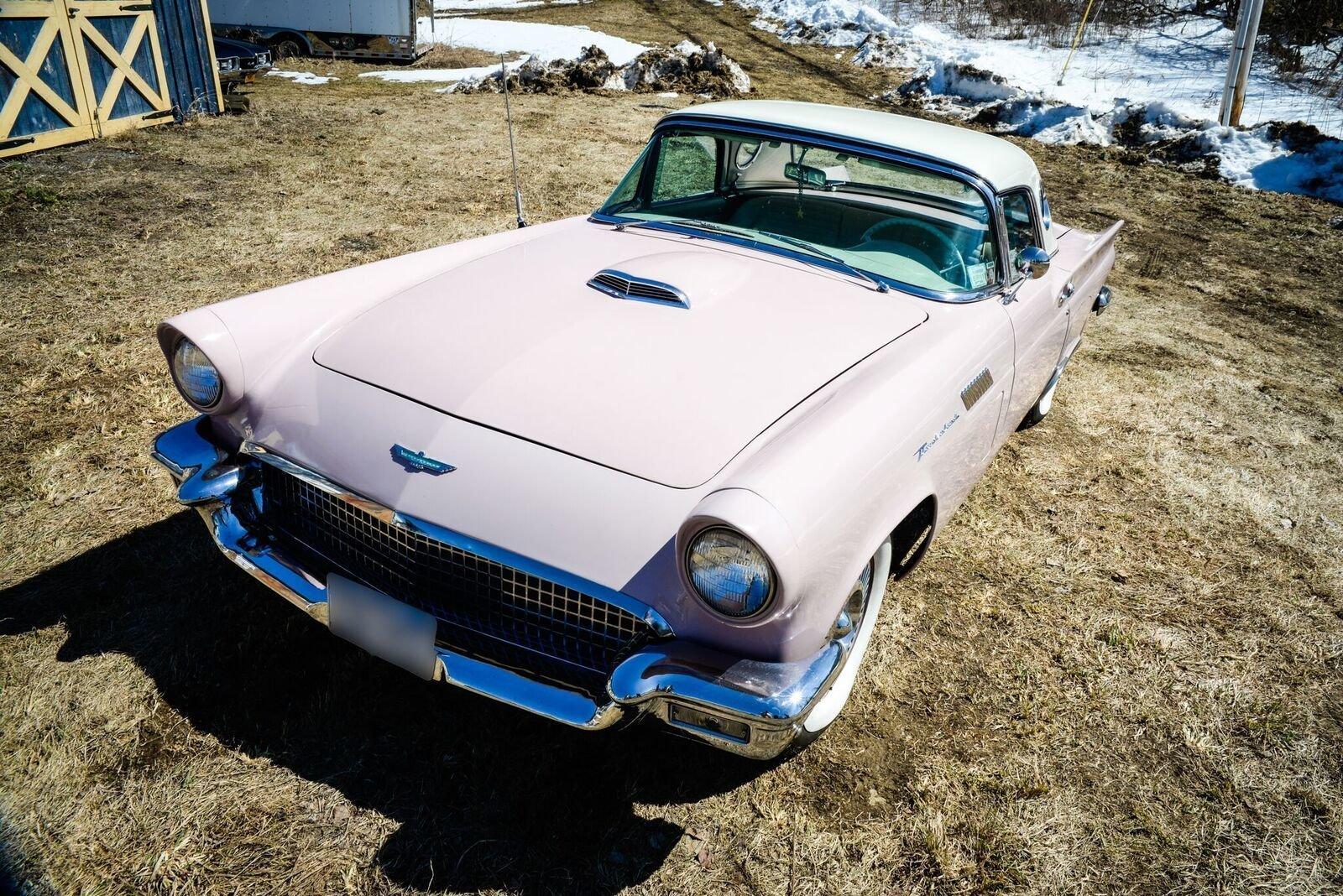 1957 ford thunderbird saratoga auto auction. Black Bedroom Furniture Sets. Home Design Ideas