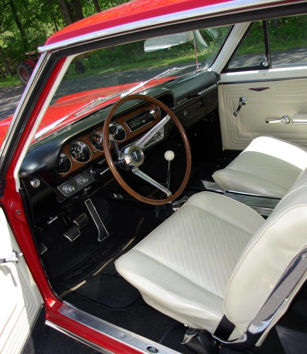 1965 Pontiac Gto Saratoga Auto Auction Phs Documented 4 Speed Tri Power 389 Red Black