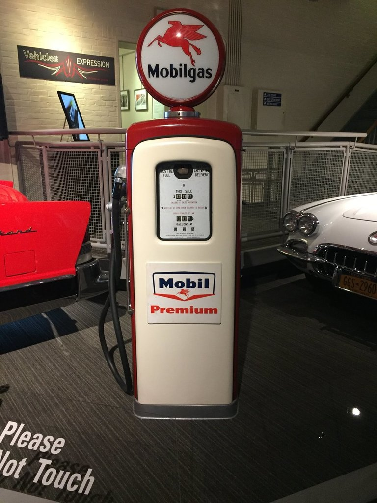"""Late 40's Early 50""""s Mobil Gas Pump"""