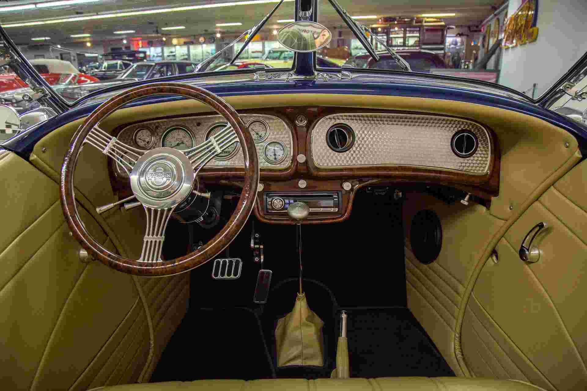 Interior of Auburn Boattail for sale