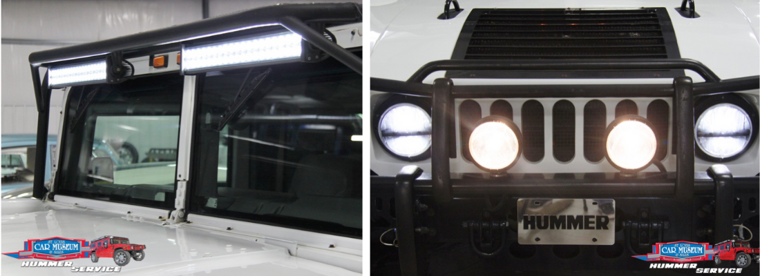 Hummer Custom LED light bar, Tail Light and headlight install service