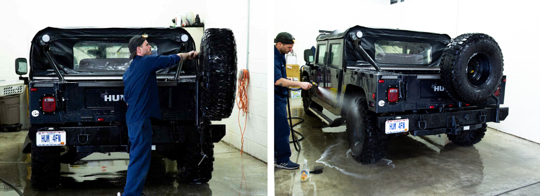 Hummer vehicle detailing services
