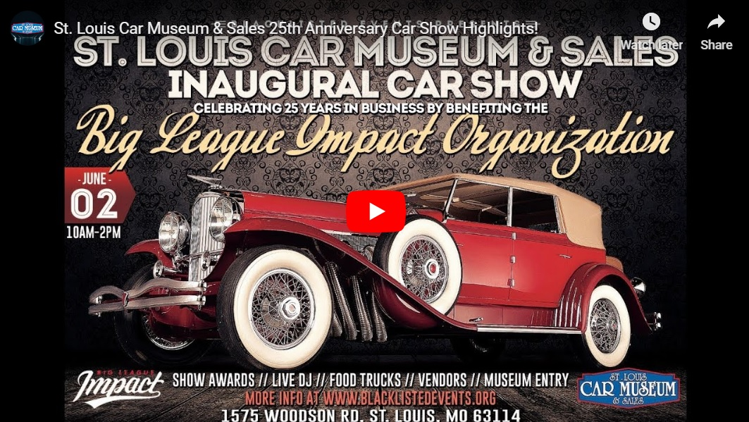 St. Louis Car Museum Car Show 2019 Youtube Video