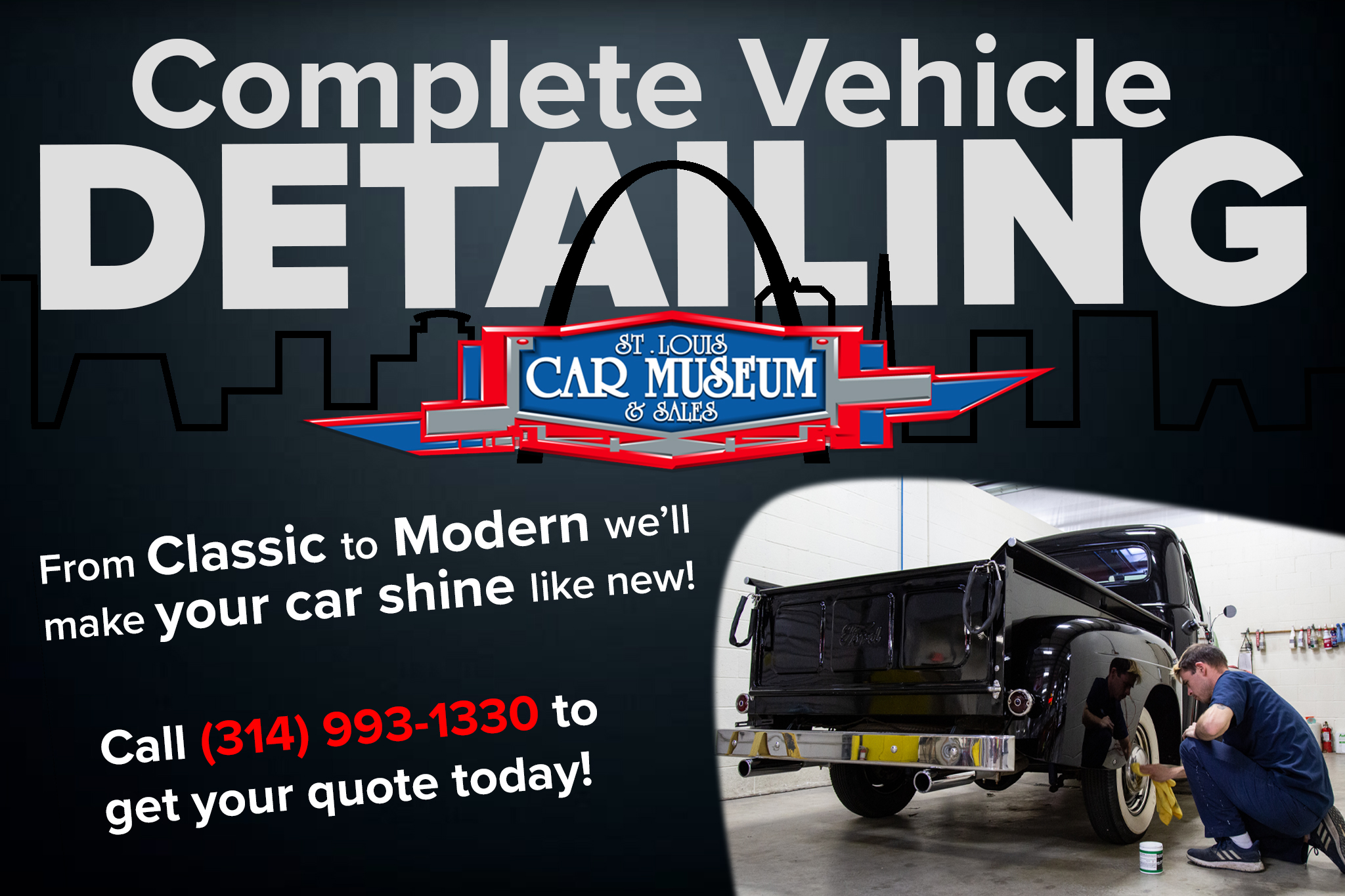 Vehicle Detailing Available at the St. Louis Car Museum