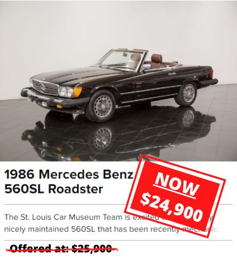 1986 Mercedes Benz 560SL Roadster for sale