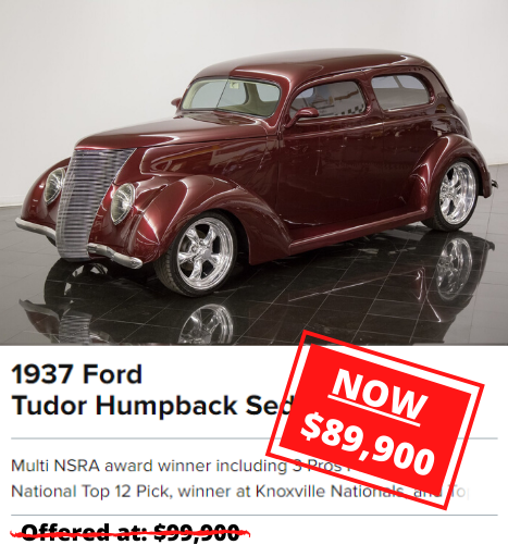 1937 Ford Tudor Humpback Sedan for sale