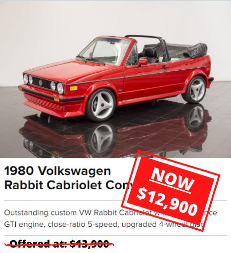 1980 Volkswagen Rabbit Cabriolet Convertible for sale