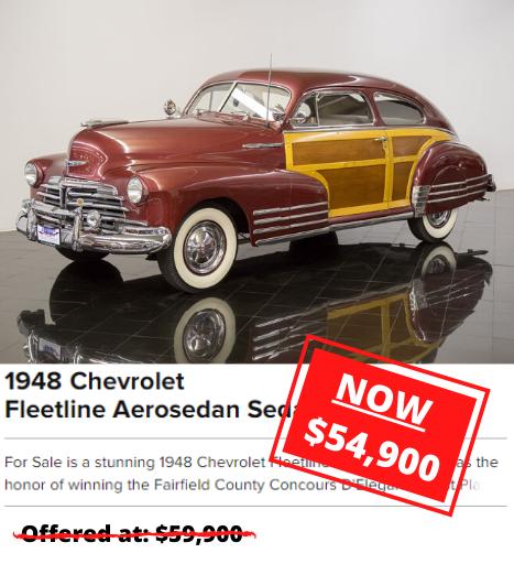 1948 Chevrolet Fleetline Aerosedan Sedan for sale
