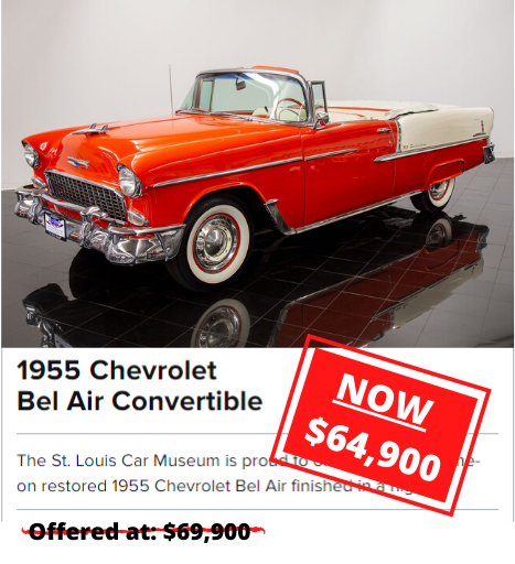 1955 Chevrolet Bel Air Convertible for sale