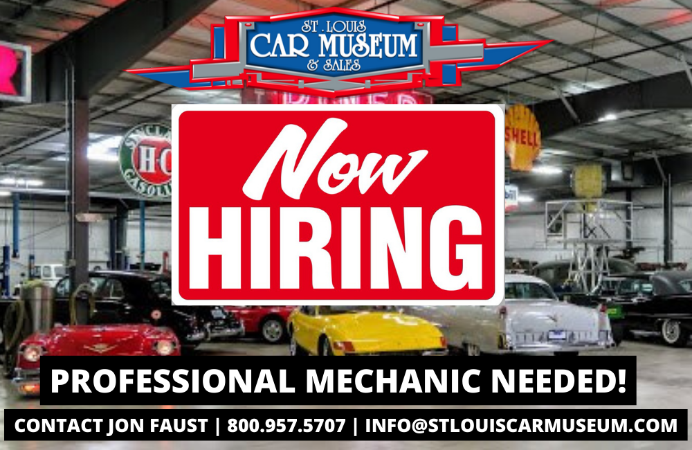 St. Louis Car Museum hiring a mechanic