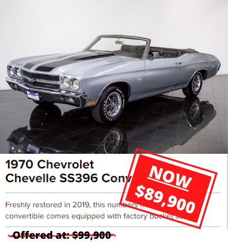 1970 Chevrolet Chevelle SS396 Convertible for sale
