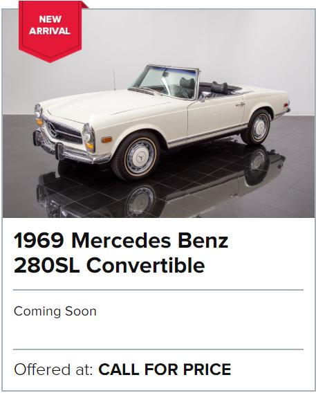1969 Mercedes Benz 280SL Convertible for sale