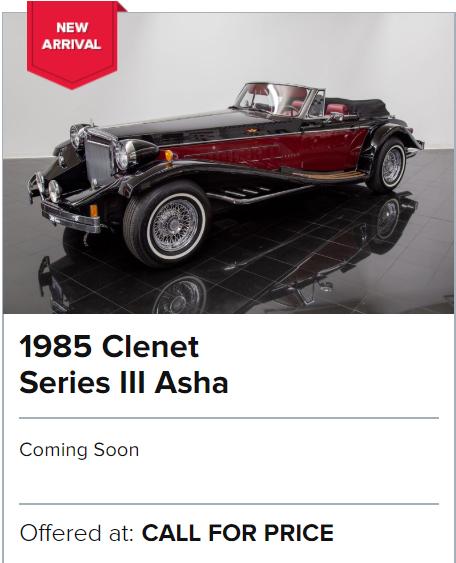 1985 Clenet Series III Asha for sale