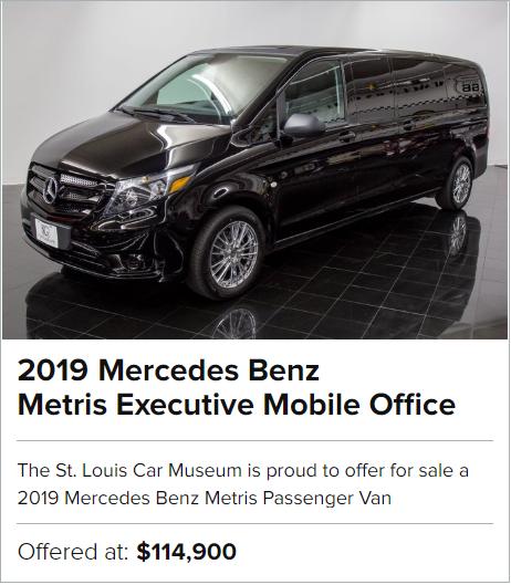 2019 Mercedes Benz Metris Executive Mobile Office for sale