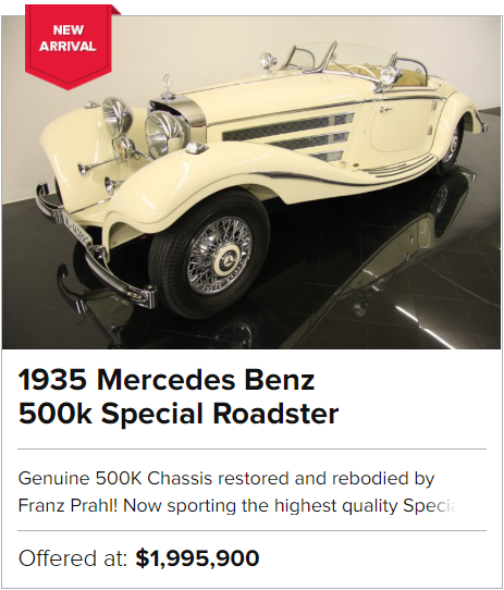 1935 Mercedes Benz 500k Special Roadster for sale