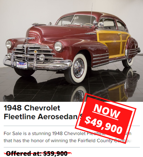 1948 Chevrolet Fleetline Aerosedan Sedan for sale