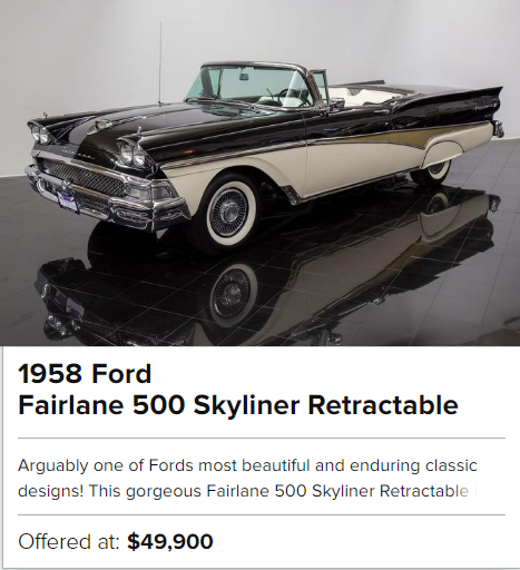 1958 Ford Fairlane 500 Skyliner Retractable for sale