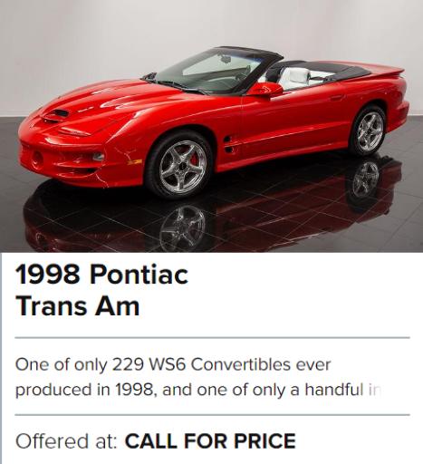 1998 Pontiac Trans Am for sale