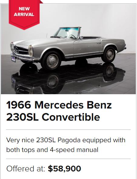 For Sale 1966 Mercedes Benz 230SL