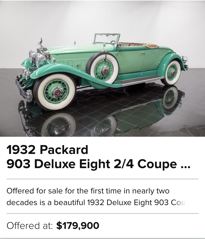 For Sale 1932 Packard 903 Deluxe Eight