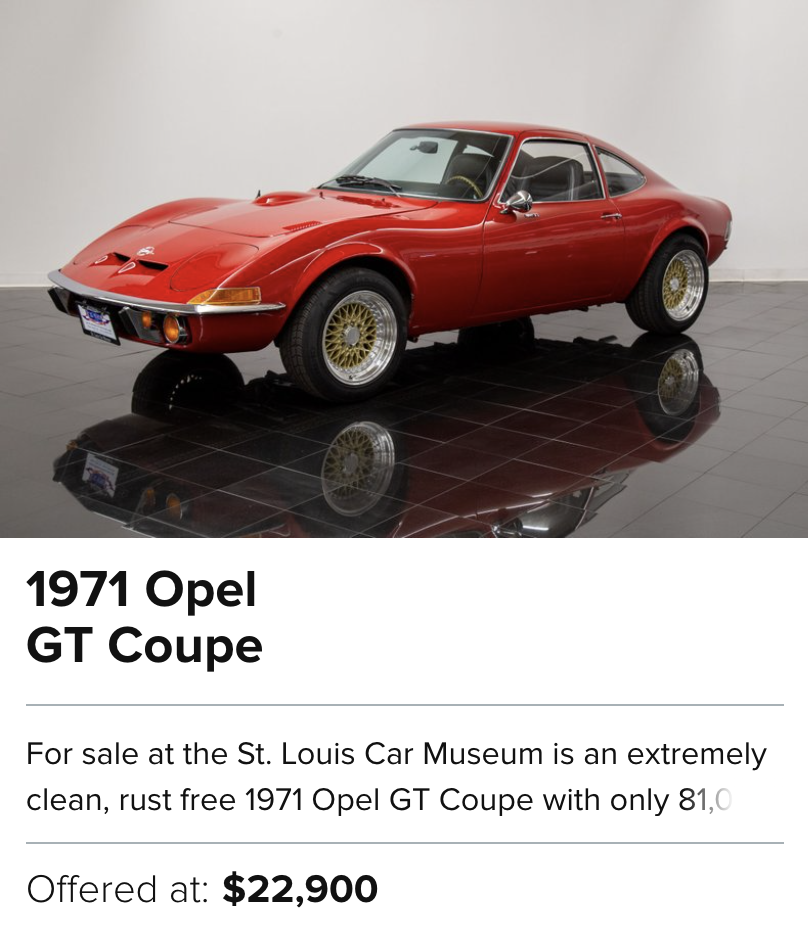 1971 Opel GT Coupe for sale