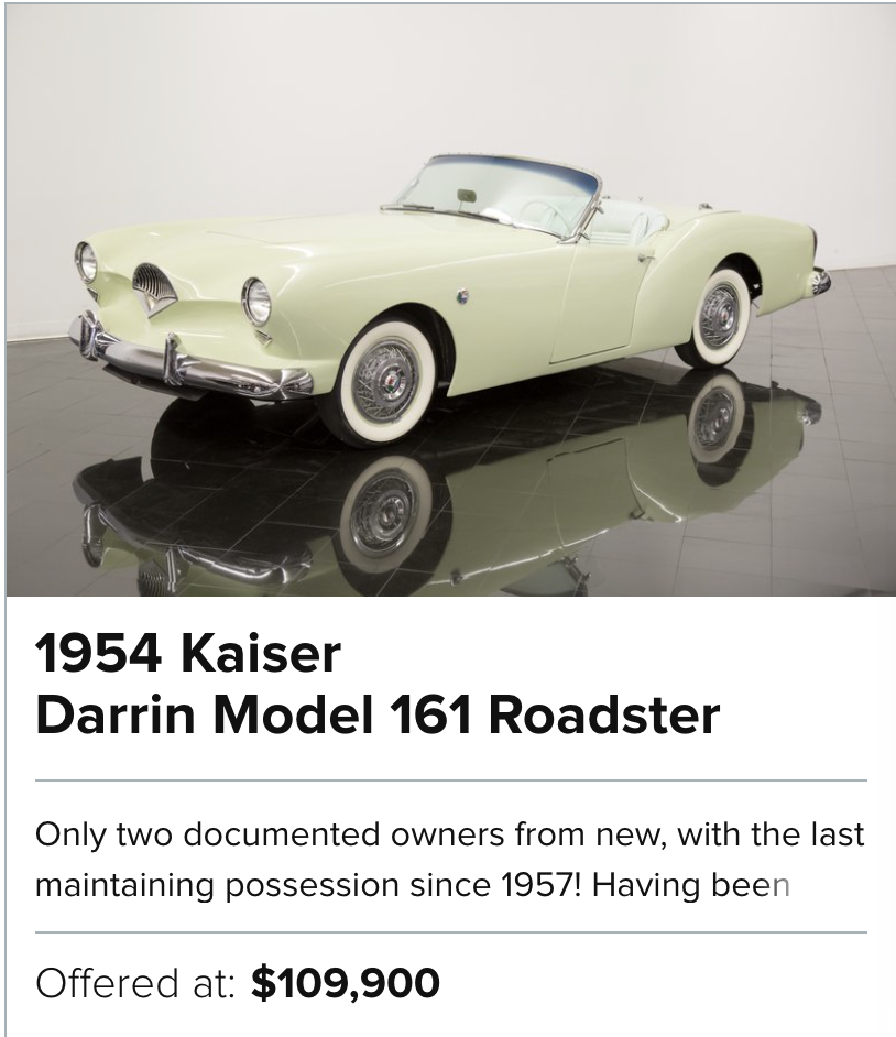 For Sale 1954 Kaiser Darrin Model 161 Roadster
