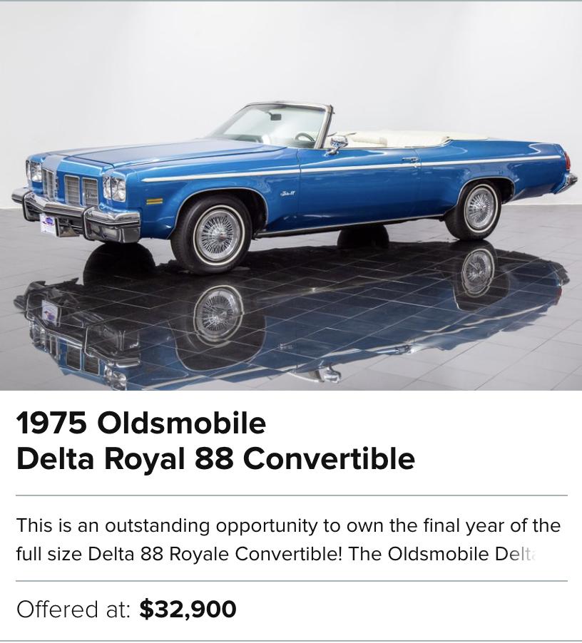 1975 Oldsmobile Delta Royal 88 Convertible for sale