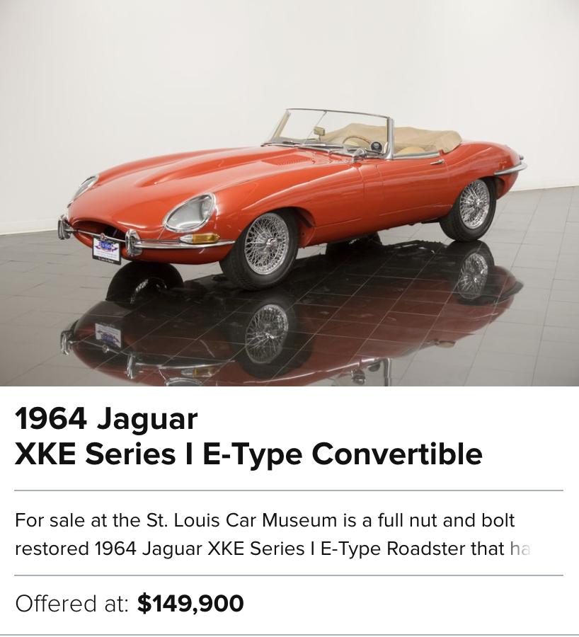 1964 Jaguar XKE Series I E-Type Convertible for sale