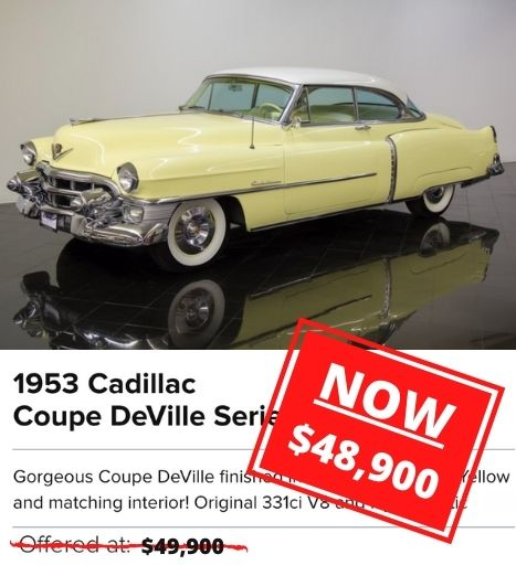 1953 Cadillac Coupe DeVille Series 62 Coupe for sale