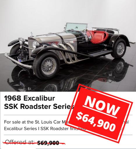 1968 Excalibur SSK Roadster Series I FOR SALE