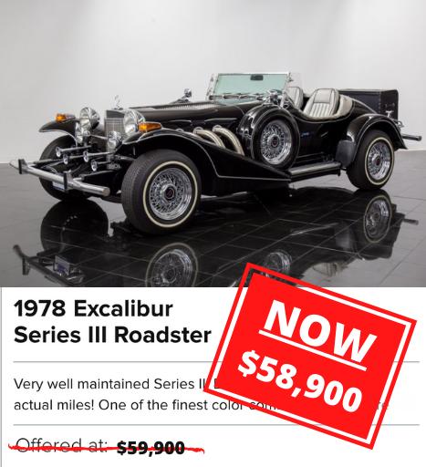 1978 Excalibur Series III Roadster for sale