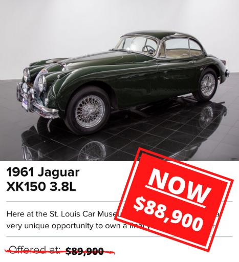 1961 Jaguar XK150 3.8L for sale