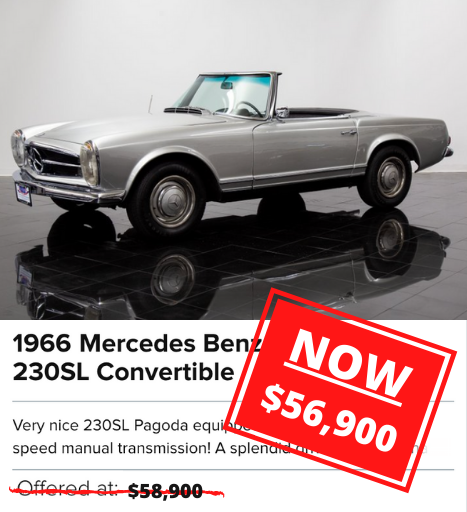 1966 Mercedes Benz 230SL Convertible for sale