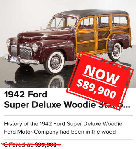 1942 Ford Super Deluxe Woodie Station Wagon