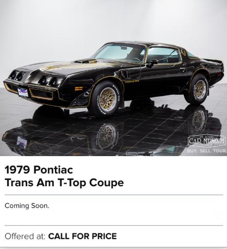 1979 Pontiac Trans Am T-Top Coupe for sale